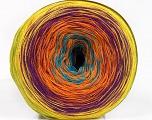 Fiber Content 50% Acrylic, 50% Cotton, Yellow, Turquoise, Purple, Orange, Brand ICE, Green, Yarn Thickness 2 Fine  Sport, Baby, fnt2-55255
