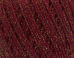 Fiber Content 40% Acrylic, 40% Wool, 20% Metallic Lurex, Brand ICE, Gold, Burgundy, Yarn Thickness 3 Light  DK, Light, Worsted, fnt2-55276