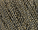 Fiber Content 40% Acrylic, 40% Wool, 20% Metallic Lurex, Light Grey, Brand ICE, Gold, Yarn Thickness 3 Light  DK, Light, Worsted, fnt2-55279