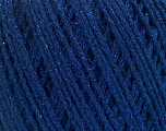 Fiber Content 50% Cotton, 30% Acrylic, 20% Metallic Lurex, Brand ICE, Blue, Yarn Thickness 3 Light  DK, Light, Worsted, fnt2-55295