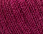 Fiber Content 50% Cotton, 30% Acrylic, 20% Metallic Lurex, Brand ICE, Fuchsia, Yarn Thickness 3 Light  DK, Light, Worsted, fnt2-55300