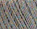 Fiber Content 50% Cotton, 30% Acrylic, 20% Metallic Lurex, Rainbow, Brand ICE, Yarn Thickness 3 Light  DK, Light, Worsted, fnt2-55304