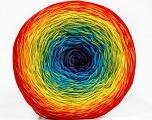 Fiber Content 50% Acrylic, 50% Cotton, Rainbow, Brand ICE, Yarn Thickness 2 Fine  Sport, Baby, fnt2-55322