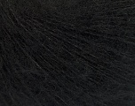 Knitted as 4 ply Fiber Content 40% Polyamide, 30% Kid Mohair, 30% Acrylic, Brand ICE, Black, Yarn Thickness 1 SuperFine  Sock, Fingering, Baby, fnt2-55323