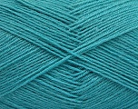 Fiber Content 75% Superwash Wool, 25% Polyamide, Turquoise, Brand ICE, Yarn Thickness 1 SuperFine  Sock, Fingering, Baby, fnt2-55477