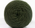Fiber Content 100% Wool, Brand ICE, Dark Green, Yarn Thickness 6 SuperBulky  Bulky, Roving, fnt2-55485