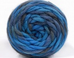 Fiber Content 100% Wool, Brand ICE, Grey, Blue Shades, Yarn Thickness 6 SuperBulky  Bulky, Roving, fnt2-55559