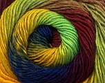 Fiber Content 50% Wool, 50% Acrylic, Yellow, Neon Green, Brand ICE, Burgundy, Blue, Yarn Thickness 2 Fine  Sport, Baby, fnt2-55563