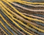 Fiber Content 100% Acrylic, Yellow, Brand ICE, Grey, Camel, Yarn Thickness 3 Light  DK, Light, Worsted, fnt2-55606