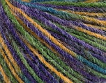 Fiber Content 100% Acrylic, Purple, Brand ICE, Green Shades, Gold, Yarn Thickness 3 Light  DK, Light, Worsted, fnt2-55607