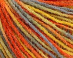 Fiber Content 100% Acrylic, Yellow, Orange, Light Blue, Brand ICE, Yarn Thickness 3 Light  DK, Light, Worsted, fnt2-55612