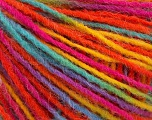 Fiber Content 100% Acrylic, Yellow, Turquoise, Orange, Brand ICE, Fuchsia, Yarn Thickness 3 Light  DK, Light, Worsted, fnt2-55613