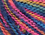 Fiber Content 82% Acrylic, 8% Polyamide, 10% Polyester, Yellow, Pink, Brand ICE, Blue Shades, Yarn Thickness 4 Medium  Worsted, Afghan, Aran, fnt2-55645