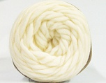 Fiber Content 100% Wool, Brand ICE, Cream, Yarn Thickness 6 SuperBulky  Bulky, Roving, fnt2-55655