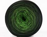Fiber Content 50% Acrylic, 50% Cotton, Brand ICE, Green Shades, Black, Yarn Thickness 2 Fine  Sport, Baby, fnt2-55668