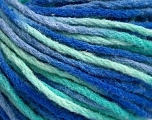 Fiber Content 50% Wool, 50% Acrylic, Brand ICE, Green Shades, Blue Shades, Yarn Thickness 4 Medium  Worsted, Afghan, Aran, fnt2-55745