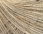 Fiber Content 50% Wool, 40% Acrylic, 10% Viscose, Brand ICE, Beige, Yarn Thickness 2 Fine  Sport, Baby, fnt2-55818