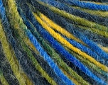 Fiber Content 50% Acrylic, 50% Wool, Yellow, Brand ICE, Green Shades, Blue Shades, Yarn Thickness 4 Medium  Worsted, Afghan, Aran, fnt2-55993