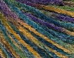 Fiber Content 90% Acrylic, 10% Polyamide, Purple, Brand ICE, Green Shades, Blue, Yarn Thickness 4 Medium  Worsted, Afghan, Aran, fnt2-56038