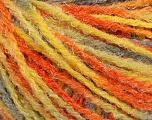 Fiber Content 90% Acrylic, 10% Polyamide, Yellow, Orange, Brand ICE, Grey, Yarn Thickness 4 Medium  Worsted, Afghan, Aran, fnt2-56040