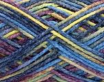Fiber Content 50% Wool, 40% Polyamide, 10% Acrylic, Yellow, Maroon, Brand ICE, Blue Shades, Yarn Thickness 3 Light  DK, Light, Worsted, fnt2-56121