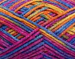 Fiber Content 50% Wool, 40% Polyamide, 10% Acrylic, Yellow, Orange, Brand ICE, Fuchsia, Blue, Yarn Thickness 3 Light  DK, Light, Worsted, fnt2-56124