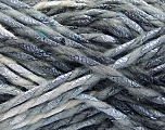 Fiber Content 6% Metallic Lurex, 50% Wool, 44% Polyamide, White, Brand ICE, Grey Shades, Yarn Thickness 5 Bulky  Chunky, Craft, Rug, fnt2-56175