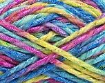 Fiber Content 6% Metallic Lurex, 50% Wool, 44% Polyamide, Yellow, Turquoise, Pink, Brand ICE, Green, Yarn Thickness 5 Bulky  Chunky, Craft, Rug, fnt2-56177