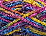 Fiber Content 6% Metallic Lurex, 50% Wool, 44% Polyamide, Rainbow, Brand ICE, Yarn Thickness 5 Bulky  Chunky, Craft, Rug, fnt2-56180