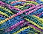 Fiber Content 6% Metallic Lurex, 50% Wool, 44% Polyamide, Pink, Brand ICE, Green Shades, Blue, Yarn Thickness 5 Bulky  Chunky, Craft, Rug, fnt2-56181