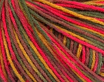 Fiber Content 50% Wool, 50% Acrylic, Pink, Maroon, Brand ICE, Green Shades, Yarn Thickness 3 Light  DK, Light, Worsted, fnt2-56206