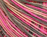 Fiber Content 50% Wool, 50% Acrylic, Pink Shades, Brand ICE, Grey, Yarn Thickness 3 Light  DK, Light, Worsted, fnt2-56209