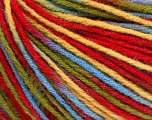 Fiber Content 50% Wool, 50% Acrylic, Yellow, Red, Brand ICE, Green, Blue, Yarn Thickness 3 Light  DK, Light, Worsted, fnt2-56213