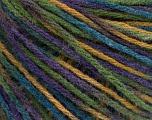 Fiber Content 50% Wool, 50% Acrylic, Purple, Brand ICE, Green, Blue, Beige, Yarn Thickness 3 Light  DK, Light, Worsted, fnt2-56216