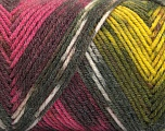Fiber Content 50% Wool, 50% Acrylic, Yellow, Pink, Orange, Maroon, Brand ICE, Grey, Yarn Thickness 3 Light  DK, Light, Worsted, fnt2-56452