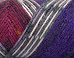 Fiber Content 50% Wool, 50% Acrylic, White, Purple, Brand ICE, Grey, Burgundy, Yarn Thickness 3 Light  DK, Light, Worsted, fnt2-56453