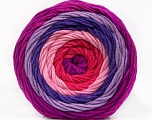 Fiber Content 100% Acrylic, Salmon, Pink, Lilac Shades, Brand ICE, Yarn Thickness 4 Medium  Worsted, Afghan, Aran, fnt2-56548