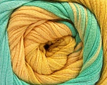 Fiber Content 100% Cotton, Yellow, Mint Green, Brand ICE, Yarn Thickness 4 Medium  Worsted, Afghan, Aran, fnt2-56800