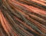 Fiber Content 50% Acrylic, 50% Wool, Salmon, Brand ICE, Brown Shades, Yarn Thickness 3 Light  DK, Light, Worsted, fnt2-56839