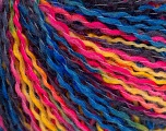 Fiber Content 50% Wool, 50% Acrylic, Yellow, Pink, Navy, Brand ICE, Blue, fnt2-56973