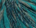 Fiber Content 45% Wool, 25% Acrylic, 20% Alpaca, 10% Metallic Lurex, Teal, Silver, Brand ICE, Grey, Yarn Thickness 5 Bulky  Chunky, Craft, Rug, fnt2-56980
