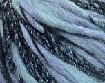 Fiber Content 45% Wool, 25% Acrylic, 20% Alpaca, 10% Metallic Lurex, Light Lilac, Light Blue, Brand ICE, Black, Yarn Thickness 5 Bulky  Chunky, Craft, Rug, fnt2-56986