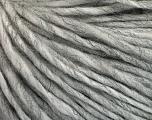 Fiber Content 50% Wool, 50% Acrylic, Brand ICE, Grey Melange, Yarn Thickness 4 Medium  Worsted, Afghan, Aran, fnt2-57001