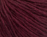 Fiber Content 50% Wool, 50% Acrylic, Brand ICE, Burgundy, Yarn Thickness 4 Medium  Worsted, Afghan, Aran, fnt2-57013