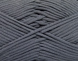 This is a tube-like yarn with soft fleece inside. Fiber Content 73% Viscose, 27% Polyester, Brand ICE, Grey, Yarn Thickness 5 Bulky  Chunky, Craft, Rug, fnt2-57167