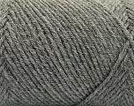 Fiber Content 50% Acrylic, 50% Wool, Brand ICE, Grey, Yarn Thickness 3 Light  DK, Light, Worsted, fnt2-57172
