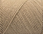 Fiber Content 50% Acrylic, 50% Wool, Brand ICE, Cafe Latte, Yarn Thickness 3 Light  DK, Light, Worsted, fnt2-57173