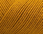 Fiber Content 50% Acrylic, 50% Wool, Brand ICE, Gold, Yarn Thickness 3 Light  DK, Light, Worsted, fnt2-57174