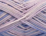 Fiber Content 85% Cotton, 15% Polyamide, Lilac Shades, Brand ICE, fnt2-57194