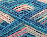 Fiber Content 85% Cotton, 15% Polyamide, Turquoise Shades, Pink Shades, Brand ICE, fnt2-57196